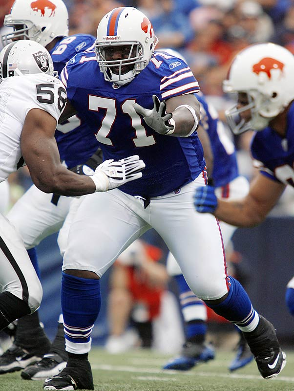 The Eagles needed to plug the gap in their offensive line left by Tra Thomas' departure to Jacksonville. They filled the hole with Jason Peters, whom they acquired in a trade with Buffalo. Philadelphia quickly signed the 27 year old to an extension worth $60 million over the next six seasons.