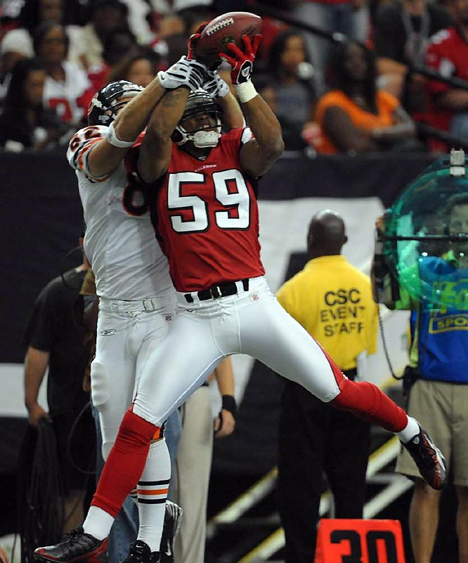 Big Blue made yet another move to improve its D by signing former Falcon Michael Boley, who logged 334 tackles, six sacks and five interceptions in four years with Atlanta.