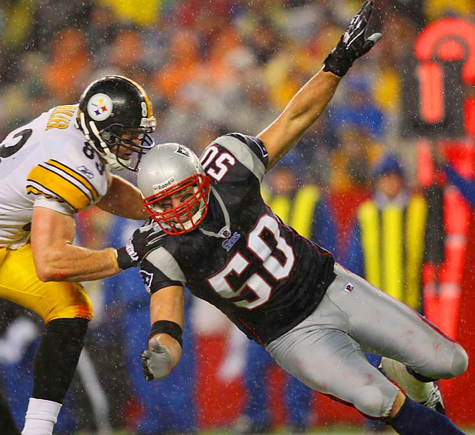 The poster boy of Bill Belichick's defensive system finally departed after an eight-year love affair in which he won three Super Bowl rings and was four times voted the team's defensive captain. He should play a sizeable role in the linebacker slot for the Chiefs.
