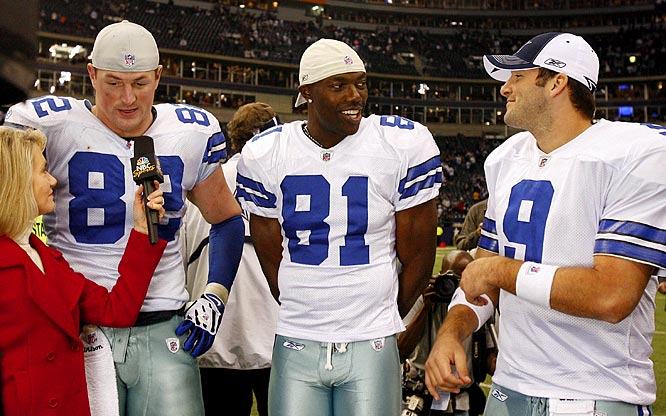 On Dec. 12, 2008, it was reported that Owens expressed resentment towards Tony Romo and Jason Witten, apparently because he was jealous of the close relationship between the quarterback and tight end. Two days later, however, the trio appeared to be fine during an interview by NBC's Andrea Kremer following an important 20-8 win over the Giants.