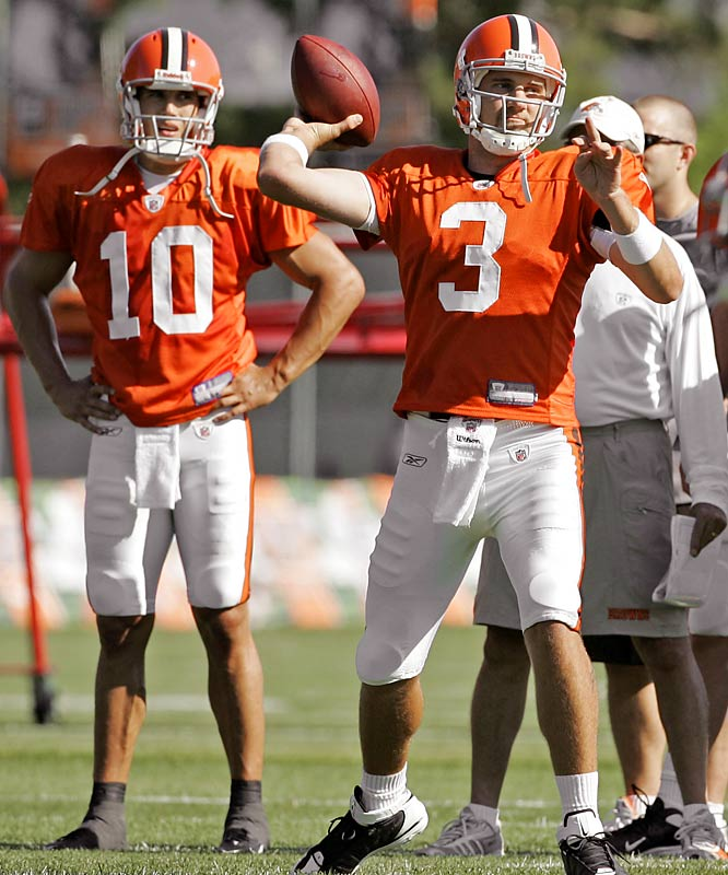 Both Derek Anderson and Brady Quinn started games for the Browns last season, and with a new front office and coaching staff, nobody's playing favorites. Coach Eric Mangini recently confirmed the plan is to hold an open QB competition.
