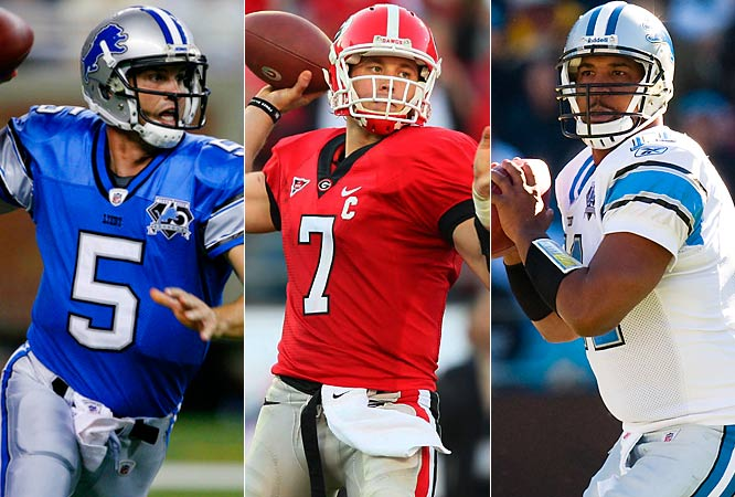 Daunte Culpepper is the incumbent here, and unproven Drew Stanton will also get a look. The wild card, obviously, is the Lions' No. 1 pick in April's draft. Georgia's Matt Stafford is a possibility there; the Lions will know more after a private workout on March 31.