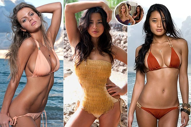 """The trio of SI Swimsuit models showed off their acting skills on NBC's """"Chuck"""" this week, playing swimsuit models (a stretch, I know) auditioning for a job at an electronics store. Something tells me that they would have no problem selling any product if they ever decided to hang up their swimsuits."""