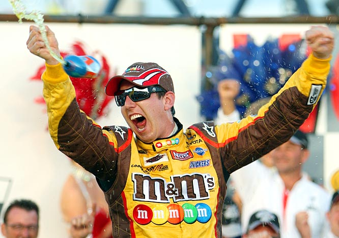 While the economy has taken its toll on Las Vegas, Kyle Busch once again made it rain in Sin City after he won in his hometown Sunday. He celebrated by shelling out more than $5,000 on 10 bottles of champagne at Body English in the Hard Rock and spraying most of it on the crowd around him