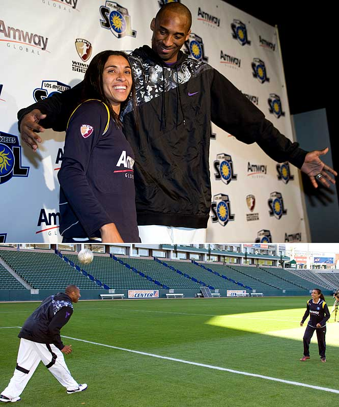 Who needs the most overrated soccer player in the world when you have arguably the best soccer player in the world. Women's Professional Soccer may not be getting a lot of buzz but there is no more exciting player in the sport than Marta, who will be playing for the upstart Los Angeles Sol. Her signing even caused Kobe Bryant to welcome her to town and hopelessly attempt to block some of her shots while in goal.