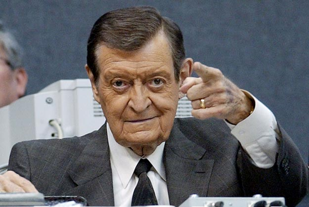 Chick Hearn, broadcaster for the Los Angeles Lakers, calls his 2,500th consecutive Laker game. The streak began in November 1965.