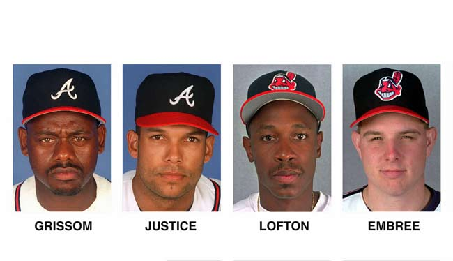 The Indians send Kenny Lofton and Alan Embree to the Braves for Marquis Grissom and David Justice. The deal saves $5.8 million in salaries for Atlanta and helps the team sign hurlers Greg Maddux ($57.5 million, five-years) and Tom Glavine ($34 million, four-years).