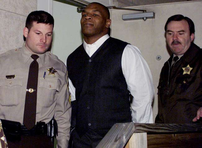 Mike Tyson is released from jail after serving three years.