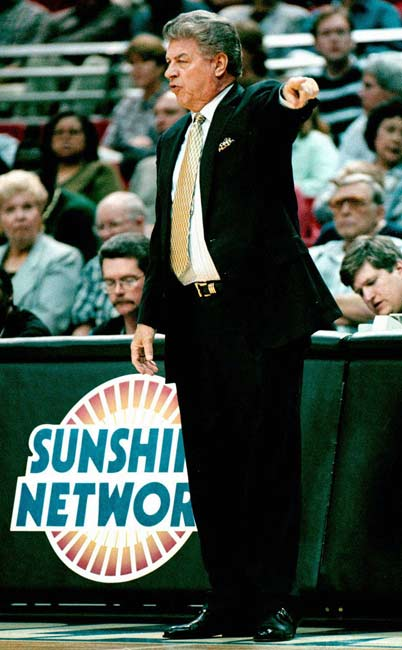 Orlando's Chuck Daly records his 600th career NBA victory with a 100-75 win over Houston.