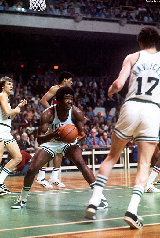 Boston's Paul Silas joins Bill Russell and Bill Bridges as the third player in NBA history to collect 10,000 rebounds before scoring 10,000 points.