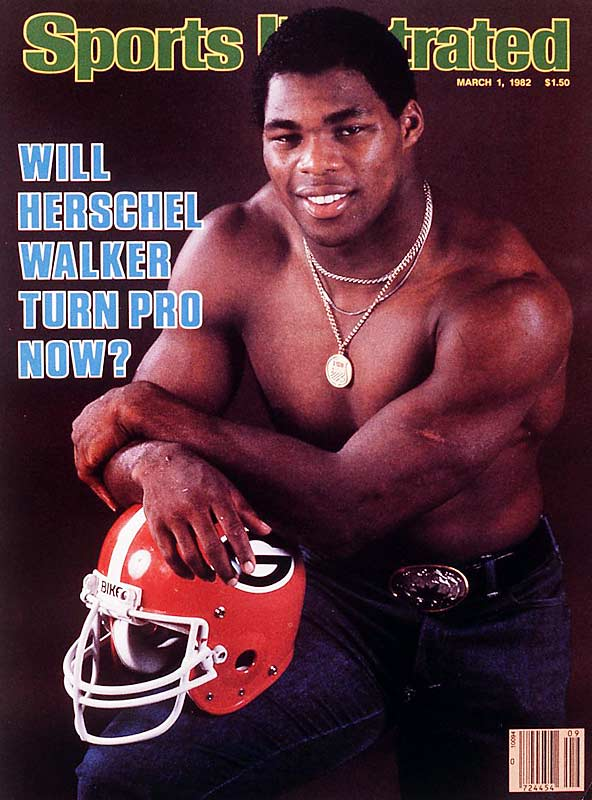 After winning the Heisman Trophy, sports fans were wondering whether Georgia RB Herschel Walker would remain in Athens for his senior year or leave early and play professionally in the  upstart USFL, which didn't require players to complete four years of college as the NFL did. Walker answered by joining the New Jersey Generals, where he stayed for three seasons before joining the Dallas Cowboys.