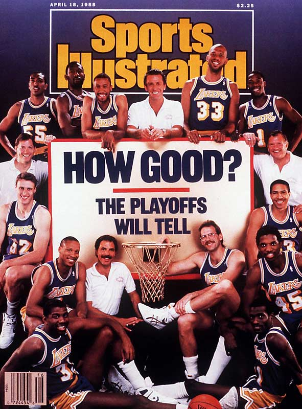 After his squad beat the Celtics in the 1987 NBA Finals, Lakers' coach Pat Riley guaranteed a repeat in 1988. Led by James Worthy and Magic Johnson, the Lakers edged Joe Dumars, Isiah Thomas and the Pistons in seven games.