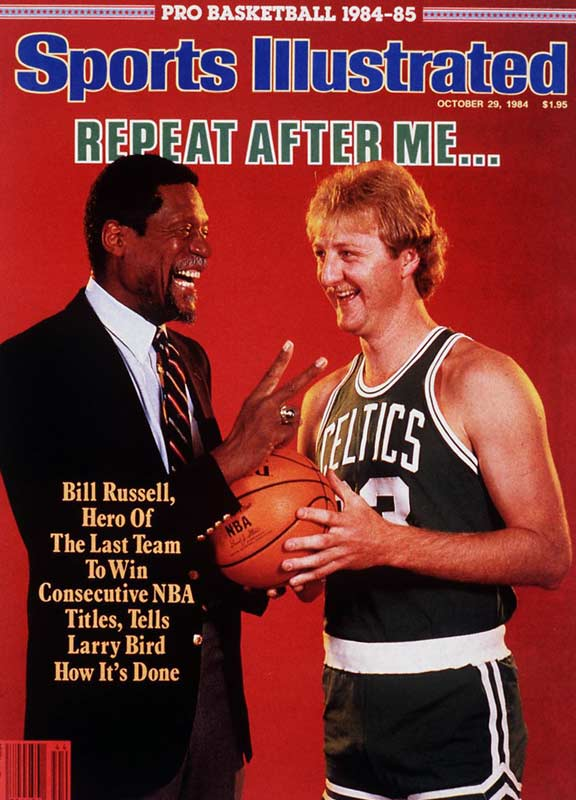 With the new additions (through the draft) of Kevin McHale and Robert Parrish, Larry Bird led the Celtics to a championship in just his second season in the league. Bird won three titles in his career -- not quite as impressive as the 11 Bill Russell managed during his days in Boston.