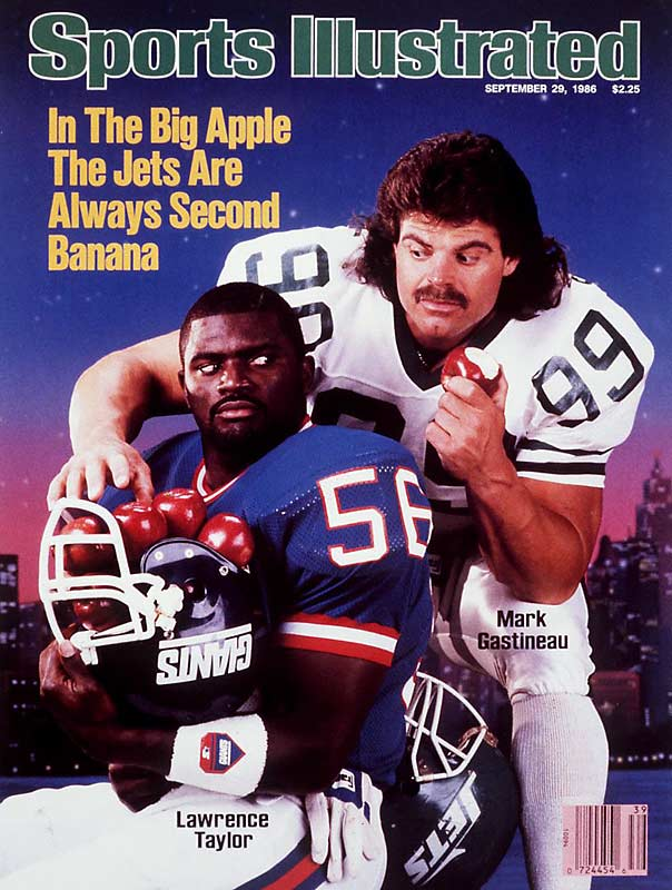 Like they are with the Subway Series between the Mets and Yankees, New Yorkers are torn between the Giants and Jets. And in 1986, the two defensive-minded squads put on a show for fans, thanks to Giants linebacker Lawrence Taylor and the Jets' Mark Gastineau.