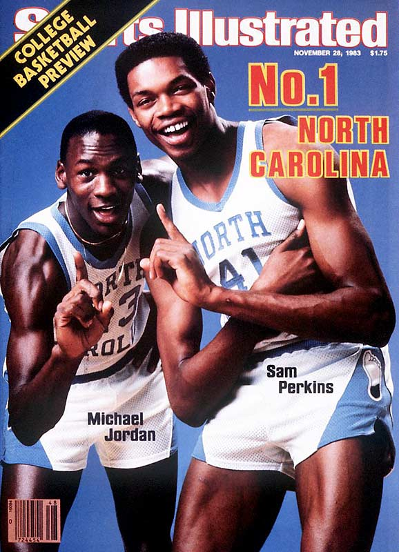 Michael Jordan graced the cover of SI 49 times. This was his first and Sam Perkins' third. The North Carolina duo led the Tar Heels to the 1982 NCAA Championship, where the young Jordan, who was named ACC Freshman of the Year, hit the winning bucket against Georgetown. It was a no-brainer that the two were the most dominant pair entering the 1983 season.