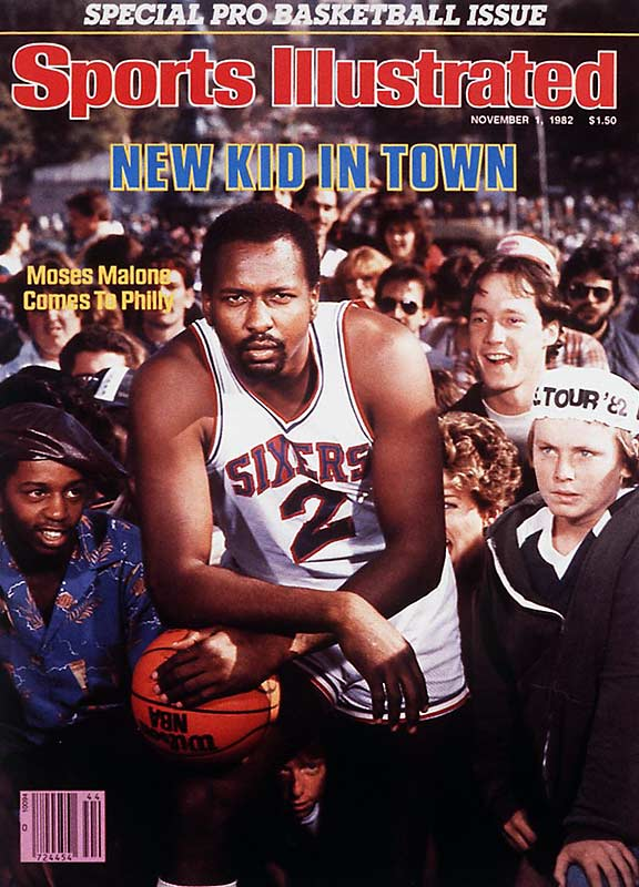 Just the fifth player to jump from high school to pro basketball, Moses Malone grew into one of the NBA's best big men as a Houston Rocket. After winning his second MVP award with the Rockets, Malone was traded to Philadelphia, where he joined Dr. J and Maurice Cheeks on a squad that went on to win the 1983 Finals. Malone won his third MVP that season, becoming the first player to win back-to-back MVPs with different teams.