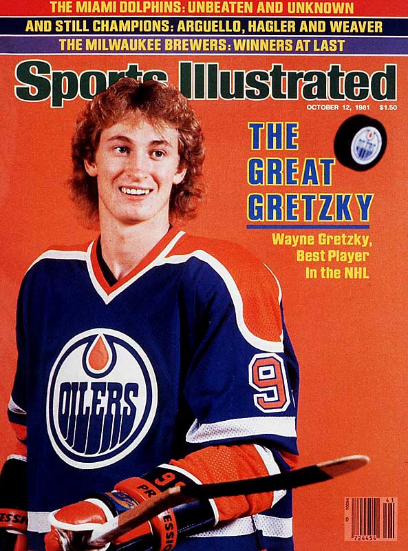 Just two seasons into his NHL career when this issue ran, Wayne Gretzky had already won two Hart Memorial Trophies (MVP), broken Bobby Orr's record for assists in a season, and broken Phil Esposito's record for points in a campaign. Gretzky started the '81-82 season on a tear, too, scoring 50 goals in his first 39 games.