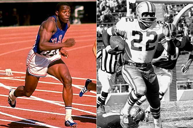 Hayes won the 100 meters at the 1964 Olympics, the same year the Cowboys drafted him in the seventh round. He seamlessly made the transition from track to football, finishing his 11-year NFL career with 71 touchdown catches, a 20-yard average per reception, three Pro Bowl appearances and one Super Bowl title. He was elected to the Pro Football Hall of Fame in 2009, seven years after his death.