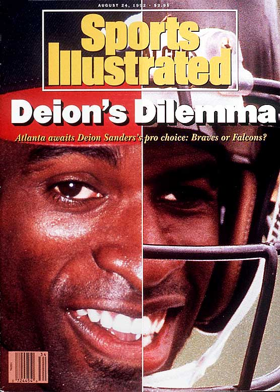 With talent like Deion's, it is no mystery why he had such a dilemma. Sanders is the only athlete to win the Super Bowl and play in a World Series and the only player in professional sports history to hit a home run and score a touchdown ... all in the same week. Sanders ultimately chose football and played 14 seasons, winning two Super Bowls and earning a spot on the Pro Bowl team nine times.