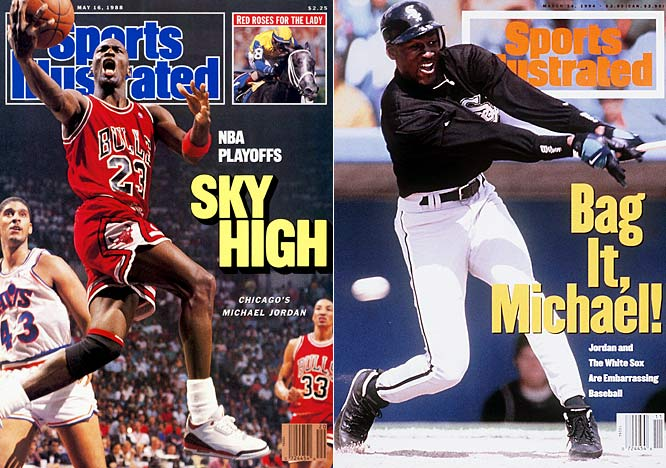 As Michael Jordan celebrates the 15-year anniversary of his retirement from baseball, SI looks back at some of the most famous two-sport athletes, beginning with His Airness, who was already considered one of the NBA's all-time greats when he hung up his high tops in favor of spikes prior to the 1992-93 season. Unfortunately, his baseball career never panned out. After 18 months and a .202 career batting average, Jordan retired from baseball and returned to the Bulls, where he won three more championships.