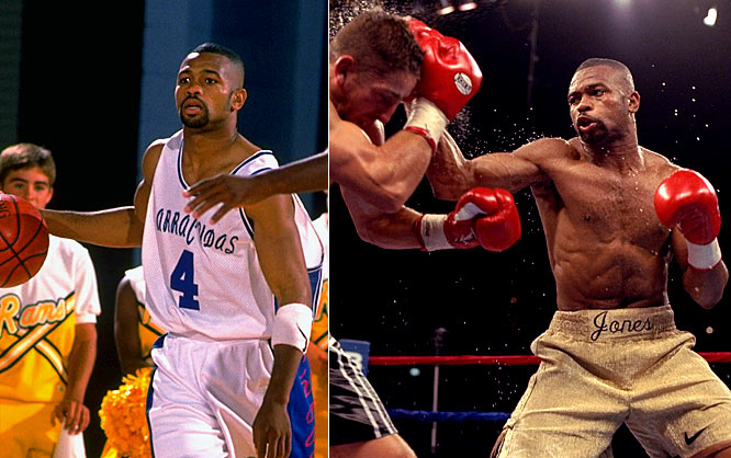 Along with being a world-class boxer, Roy Jones Jr. has professional basketball on his résumé. In fact, Jones pulled off an impressive doubleheader on June 15, 1996, when he played in a U.S. Basketball League game in the afternoon and beat Eric Lucas to defend his IBF super middleweight title that night.