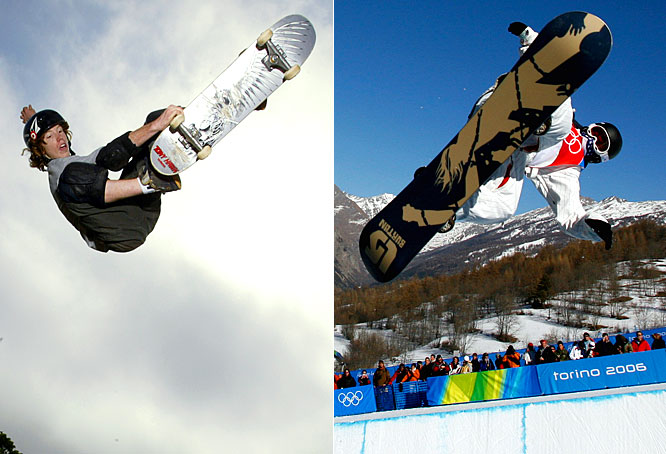The world's most recognizable extreme athlete excels in snowboarding and skateboarding, winning an Olympic gold medal in the former and collecting numerous X Games medals in both sports.