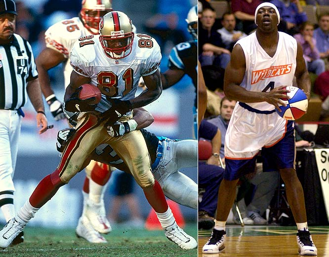 Owens' exploits -- both on and off the football field -- have been well documented. However, few fans realize that T.O. was not only a member of Tennessee-Chattanooga's basketball squad, but also played briefly for the minor-league Adirondack Wildcats of the USBL during the 2002 NFL offseason. The stint wasn't that impressive and Owens soon returned to the gridiron.
