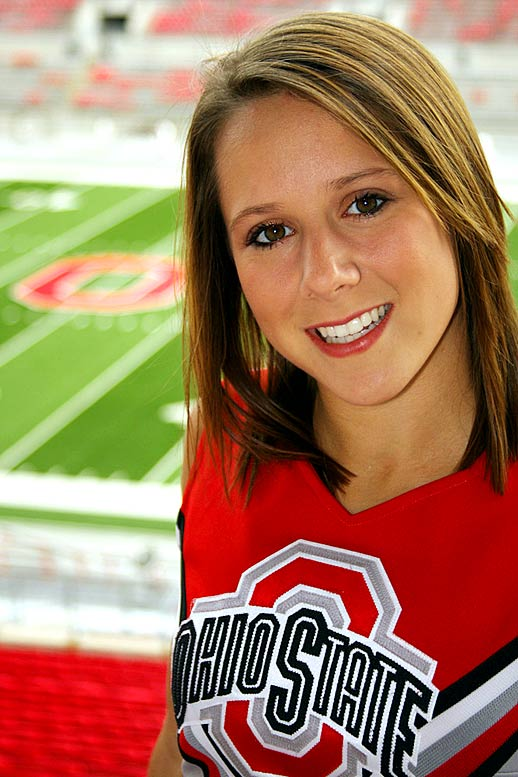 Meet Sarah, an Ohio State senior and proud Buckeyes cheerleader. Sarah, who has a fondness for Mary Lou Retton and Nadia Comaneci, once was caught on TV during a bad moment.<br><br>Want to find out more? <br>Click the '20 Questions' link below.