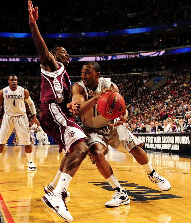 After overcoming a number of trials throughout his college career, UConn point guard A.J. Price shined for the Huskies throughout their 2009-08 campaign. In their tournament run, Price averaged 19 points, 4.8 rebounds and 4.4 assists.