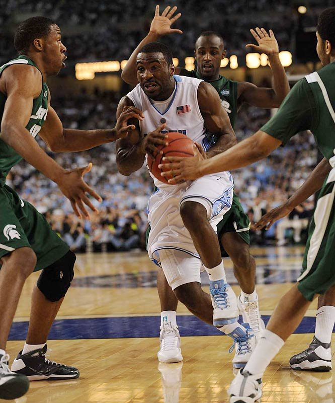 Ty Lawson scored a game-high 21 points against Michigan State.