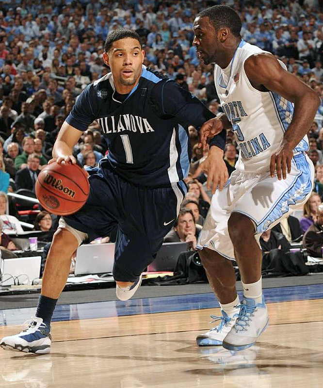Villanova junior guard Scottie Reynolds scored a team-high 17 points -- but converted on only 6-of-18 shots.
