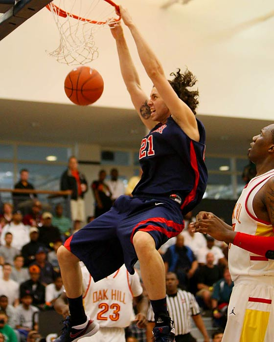 UNLV signee Carlos Lopez was a load underneath.