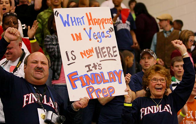 Findlay Prep fans made their way to Georgetown Prep in North Bethesda, Md. to watch their Pilots play in the National High School Invitational last weekend.