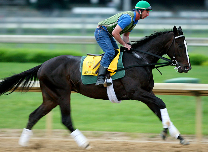 Post Position: 5<br>Jockey: Kent Desormeaux<br>Trainer: Bill Mott<br><br>A runnerup finisher to General Quarters in the Blue Grass Stakes at Keeneland on April 11, Hold Me Back is another contender whose best career races have come over synthetic surfaces. But the colt does have the sort of pedigree and long-striding style to suggest he should be able to handle the 1 1/4 miles of the Derby. Another thing in his favor is that his jockey, Kent Desormeaux, has plenty of Derby experience, and has won the race three times since 1998.