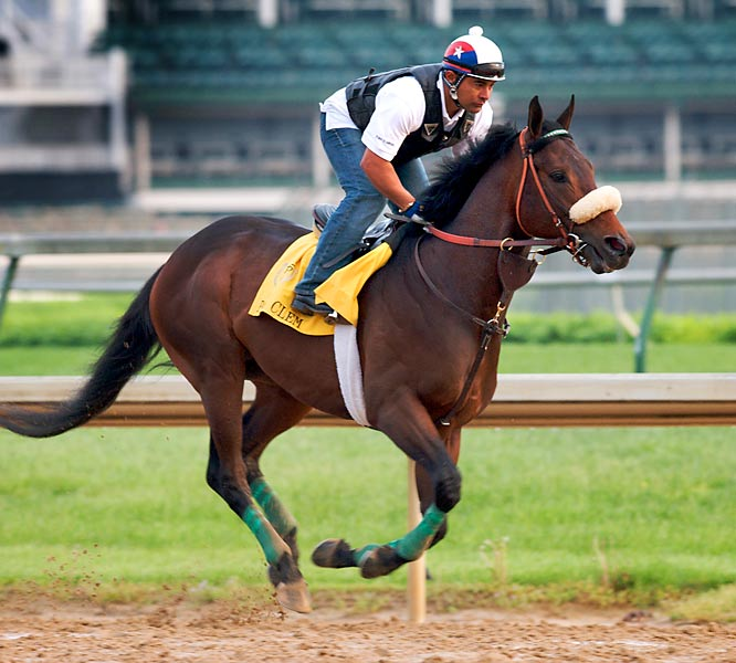 Post Position: 7<br>Jockey: Rafael Bejarano<br>Trainer: Gary Stute<br><br>After finishing more than seven lengths behind Friesan Fire in a runnerup showing in the Louisiana Derby, Papa Clem came back to win the Arkansas Derby on April 11 by ditching his usual front-running style. On that day, he wore down the leaders after a long drive through the stretch. His middle-distance pedigree suggestst the Churchill Downs stretch might be too much for him.