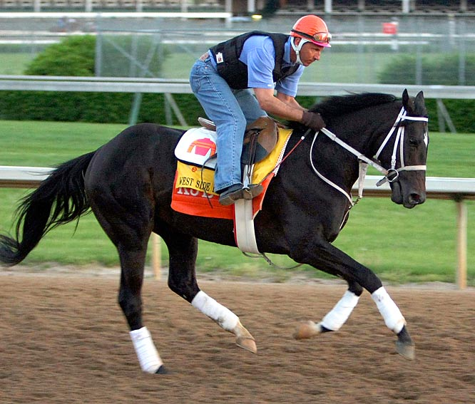 Post Position: 1 <br>Jockey: Stewart Elliott<br>Trainer: Kelly Breen<br><br>Finished an unthreatening second to Derby favorite I Want Revenge in the Wood Memorial at Aqueduct back on April 4. Bred to be a sprinter, West Side Bernie won the first two starts of his career last year -- the second time running 1 1/16 miles -- but hasn't been back to the Winner's Circle since last September.