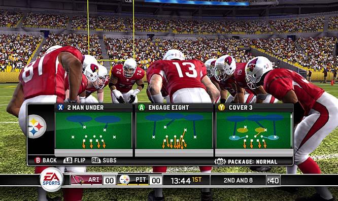 Kurt Warner calls a play in Super Bowl XLIII against the Pittsburgh Steelers.