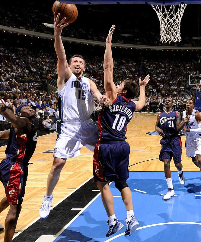 Turkoglu, the 2007-08 Most Improved Player, is averaging 16.9 points, 5.3 rebounds and 4.9 assists for the fourth-best team in the league. He has the option to become a free agent after the season.