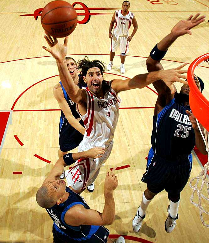Called Houston's MVP by teammate Shane Battier, the 6-foot-9 Argentine forward is averaging 12.6 points and 8.8 rebounds in 30.3 minutes. Scola is the only Rocket to appear in every game this season.