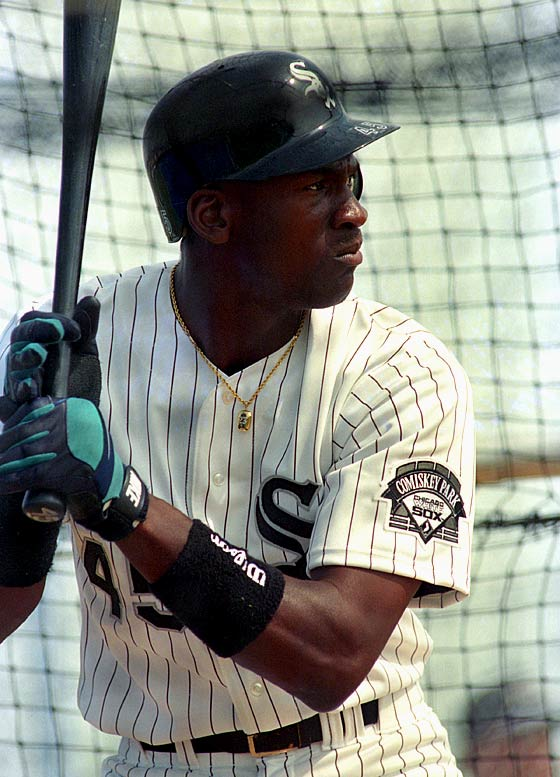 "The 31-year-old Jordan spent the 1994 season playing for the Double A Birmingham Barons under manager Terry Francona. With a 13-year hole in his baseball résumé, Jordan put in his time in the batting cage. ""Nobody has outworked him,"" Francona said. ""He has the same goal as the other 23 players here. He just wants to get to the big leagues."""