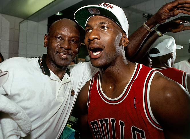 In July 1993, just a month after the Bulls won their third consecutive championship, Jordan's father, James, was murdered in North Carolina. Two 18-year-old men were convicted in the slaying.