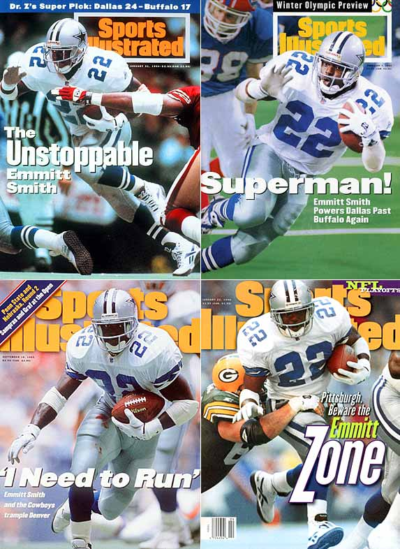 The diminutive Smith might have fallen a bit in the draft because of his size, but he came up big in his NFL career, setting the all-time rushing record with 18,355 yards. He was a key reason the Cowboys won three Super Bowls in the 1990s. The Jets selected Penn State running back Blair Thomas with the No. 2 overall pick that season.
