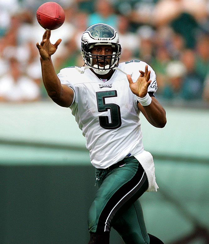 For better or worse, McNabb has been the face of the Eagles franchise for a decade. He's led Philly to five NFC title games and one Super Bowl appearance. <br><br>Others considered: <br>Julius Peppers (2002),<br>Calvin Johnson (2007)