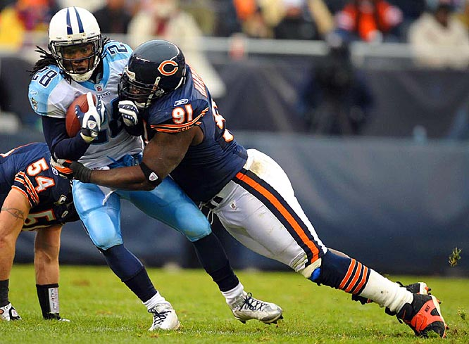 Harris has been the anchor in the middle of the Bears defensive line since his rookie season and has been named an All-Pro twice. <br><br>Others considered: <br>Jeremy Shockey (2002), <br>Darrelle Revis (2007)<br><br>Send comments to siwriters@simail.com