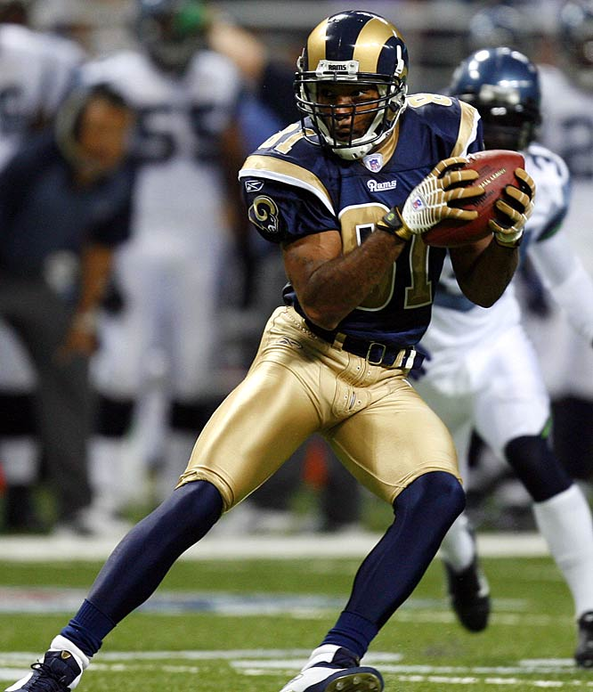 Though currently unemployed, Holt had eight consecutive 1,000-yard receiving seasons from 2000-07 and played on two Rams Super Bowl teams.<br><br>Others considered: <br>Richard Seymour (2001)