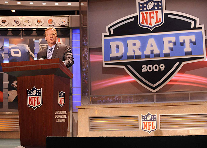 Commissioner Roger Goodell, who presided over his third draft, wasted little time in announcing that with the No. 1 pick the Lions took ...