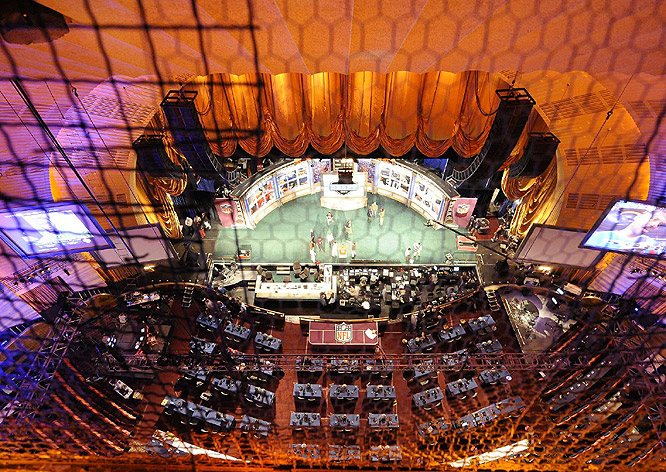 For the fourth straight year, Radio City Music Hall hosted the NFL draft. It marks the 45th consecutive year the event was held in New York City.