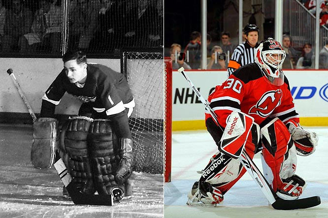 The ultimate iron horse, Hall played in a record 502 consecutive games through injuries and without a mask. He won 407 games, a Stanley Cup and three Vezina Trophies during his 18 NHL seasons.<br><br>The NHL's leader in career victories (557), Brodeur played 70 or more games in a record 10 straight seasons before suffering a torn biceps last November. He returned in February, as good as ever, and hopes to add to his collection of three Stanley Cups and four Vezina Trophies.