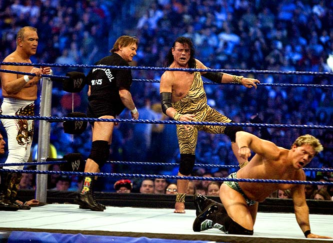 "The 25th WrestleMania was a solid show, if for no other reason than getting to watch (left to right) Ricky ""The Dragon"" Steamboat, ""Rowdy"" Roddy Piper and ""Superfly"" Jimmy Snuka in the ring one last time."