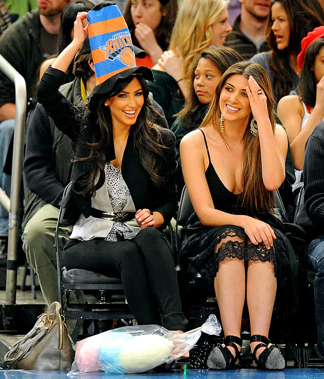 "Proving that celebrities don't get courtside seats to watch the game but rather to be watched, Kardashian and Gastineau spent the night texting at a Knicks-Pistons contest last week in New York. Kardashian was actually Tweeting the whole time and passed along such gems as, ""Knicks game! Thanks Reggie for the courtside seats!!!"" and ""I was just on the jumbo-tron at the Knicks game!!! I've always wanted to be on one!"""